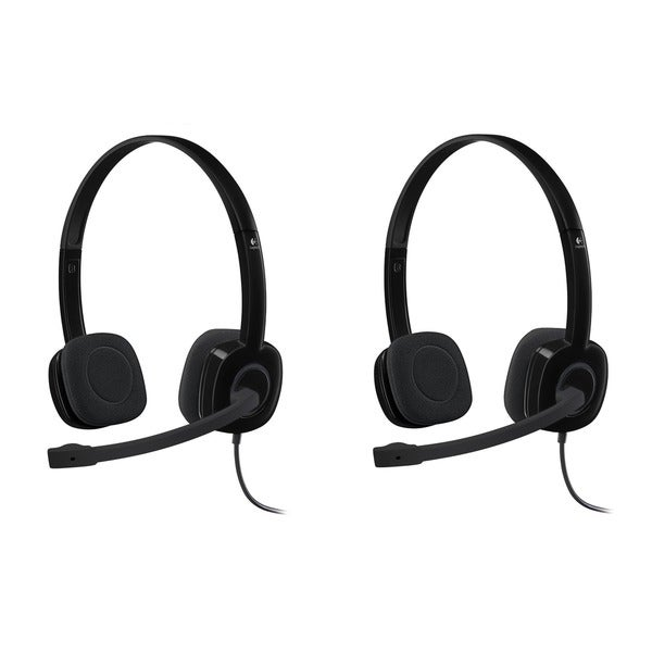 476d27d899b Shop Logitech Stereo Headset H151 - Free Shipping On Orders Over $45 ...
