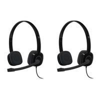 Shop Logitech H111 Stereo Headset Bulk Package (Pack of 2) - Free