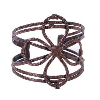 Handmade Bronze Infinity Cuff (India)