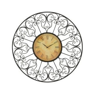 Vintage Styled Metal Outdoor Clock