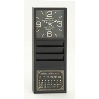 Remarkably Styled Metal Calendar Clock