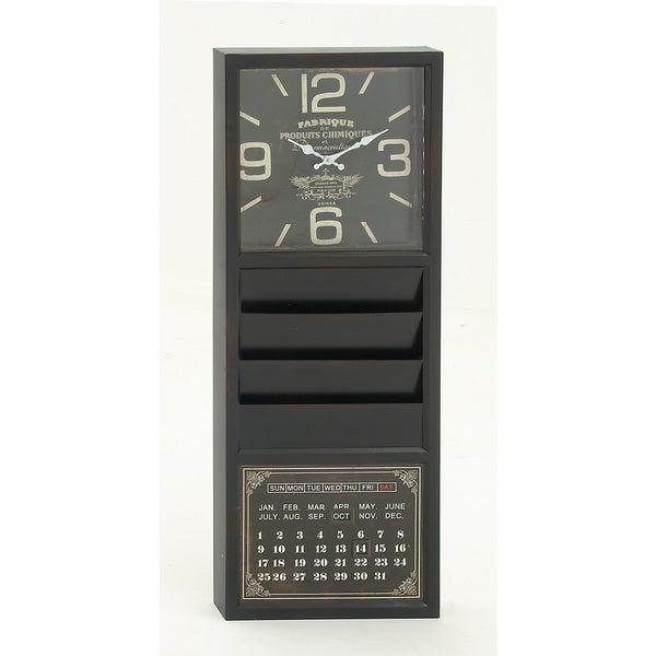 Remarkably Styled Metal Calendar Clock