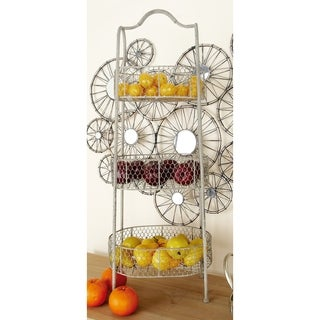 Elegant and Stable Metal 3-tier Basket