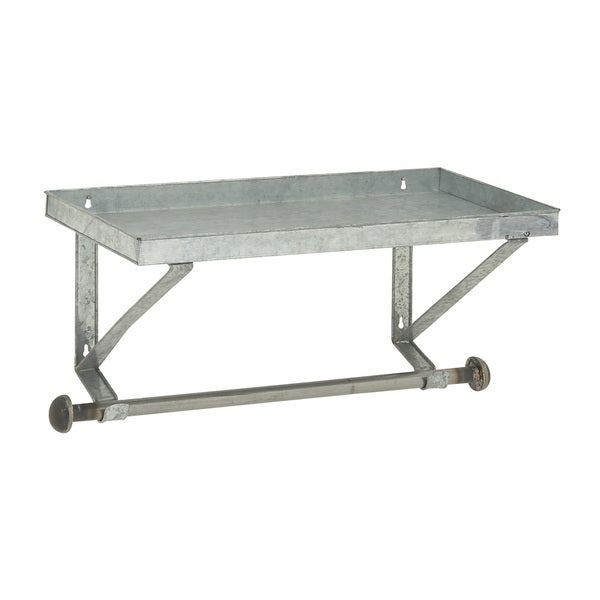 Studio 350 Metal Wall Shelf Rod 27 inches wide, 14 inches high