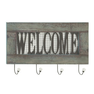 Awesome Wood Metal Welcome Wall Hook