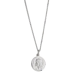 Decadence Sterling Silver Jesus Necklace