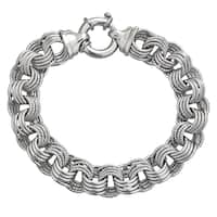 Decadence Sterling Silver Italian 12mm Links Bracelet