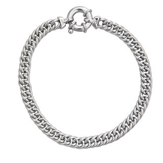 Decadence Sterling Silver Italian Links Bracelet