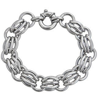Decadence Sterling Silver Italian 11mm Links Bracelet
