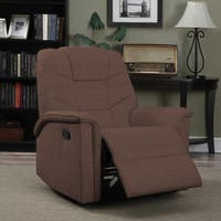 ProLounger Dark Brown Microfiber Wall Hugger Glider Recliner