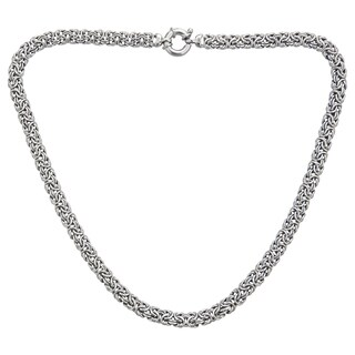 Decadence Sterling Silver Italian Byzantine Necklace