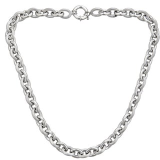Decadence Sterling Silver Italian 6mm Hollow Links Necklace