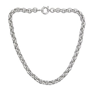 Decadence Sterling Silver 8mm Italian Links Necklace