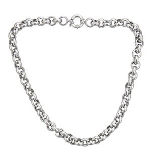 Decadence Sterling Silver 10.5mm Italian Links Necklace