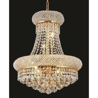 Elegant Lighting Gold Royal-cut Crystal Clear 16-inch Hanging 8-light Chandelier