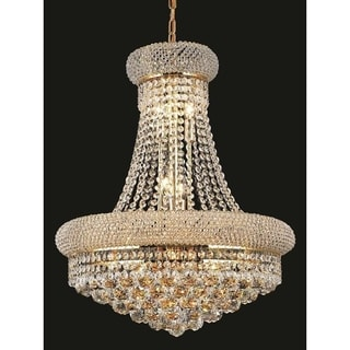 Elegant Lighting Gold Royal-cut Crystal Clear Hanging 20-inch 14-light Chandelier