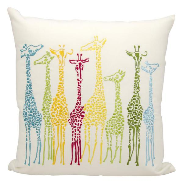 Mina Victory Indoor/Outdoor Giraffes Multicolor Throw Pillowby Nourison (20-Inch X 20-Inch)