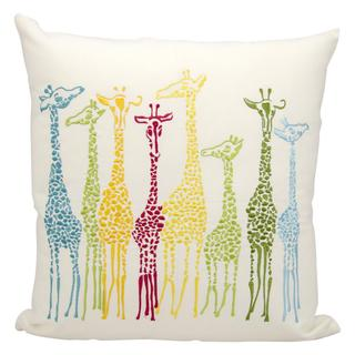 Mina Victory Indoor/Outdoor Giraffes Multicolor Throw Pillow (20-inch x 20-inch) by Nourison