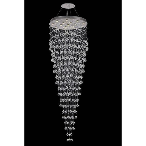 Elegant Lighting Crystal Pendant Light Chrome 7