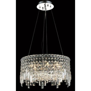 Elegant Lighting Chrome Royal-cut 20-inch Crystal Clear Hanging 12-light Chandelier