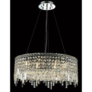 Elegant Lighting Chrome Royal-cut 24-inch Crystal Clear Hanging 12-light Chandelier
