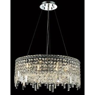 Elegant Lighting Chrome Royal-cut 24-inch Crystal Clear Hanging 12-light Chandelier