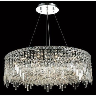 Elegant Lighting Chrome 32-inch Royal-cut Crystal Clear Hanging 18-light Chandelier