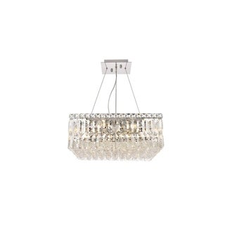 Elegant Lighting Chrome Royal-cut Crystal Clear 20-inch Hanging 12-light Chandelier