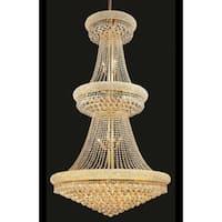 Elegant Lighting Gold Royal-cut Crystal Clear 36-inch Large Hanging Chandelier
