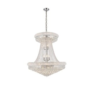 Elegant Lighting Chrome Royal-cut Crystal Clear Large Hanging 36-inch Chandelier