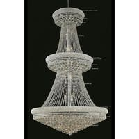 Elegant Lighting Chrome Royal-cut Crystal Clear Large 42-inch Hanging Chandelier