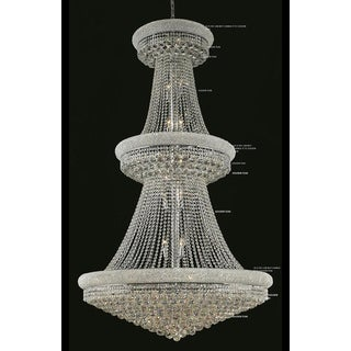 Elegant Lighting Chrome Royal-cut Crystal Clear Large 42-inch Hanging Chandelier