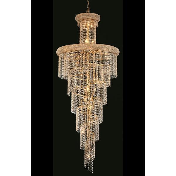 Shop elegant lighting gold royal cut crystal clear large 30 inch elegant lighting gold royal cut crystal clear large 30 inch hanging chandelier aloadofball Images