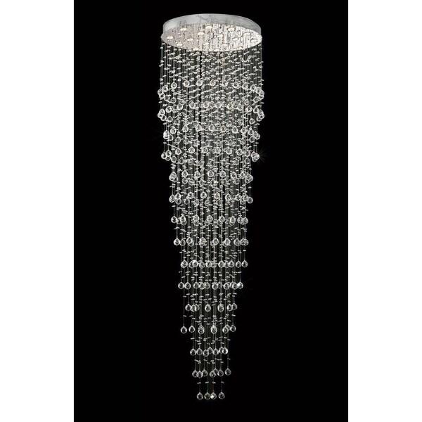 Must Watch 30 Stunning Deck Lighting Ideas: Shop Elegant Lighting Chrome 32-inch Royal-cut Crystal