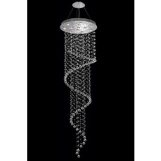 Elegant Lighting Chrome 28-inch Royal-cut Crystal Clear Large Hanging 15-light Chandelier