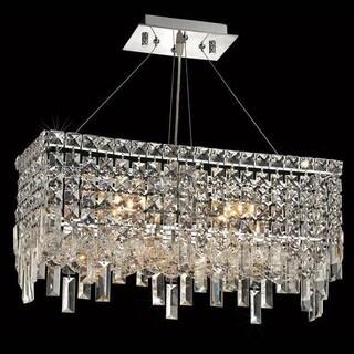 Elegant Lighting Chrome 20-inch Royal-cut Crystal Clear Hanging 4-light Chandelier