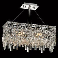 Elegant Lighting Chrome 20-inch Royal-cut Crystal Clear Hanging 4-light Chandelier