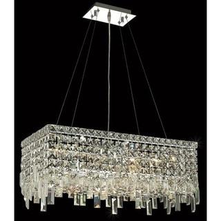 Elegant Lighting 24-inch Chrome Royal-cut Crystal Clear Hanging 6-light Chandelier
