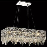 Elegant Lighting Chrome 28-inch Royal-cut Crystal Clear Hanging 16-light Chandelier