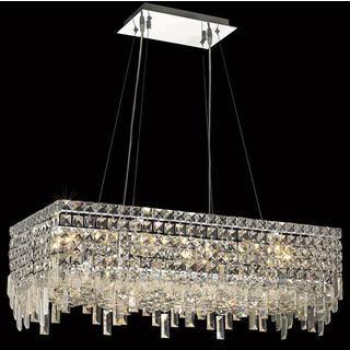 Elegant Lighting Chrome 28 Inch Royal Cut Crystal Clear Hanging 16 Light  Chandelier