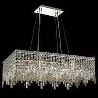 Elegant Lighting Chrome 32-inch Royal-cut Crystal Clear Hanging 16-light Chandelier