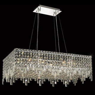 Elegant Lighting Chrome 32-inch Royal-cut Crystal Clear Hanging 16-light Chandelier