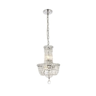 Elegant Lighting Chrome 12-inch Royal-cut Crystal Clear Hanging 6-light Chandelier