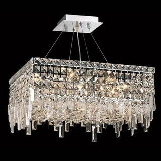 Elegant Lighting Chrome 20-inch Royal-cut Crystal Clear Hanging 12-light Chandelier