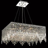 Elegant Lighting Chrome 24-inch Royal-cut Crystal Clear Hanging 12-light Chandelier