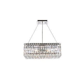 Elegant Lighting Chrome Royal-cut 20-inch Crystal Clear Hanging 4-light Chandelier