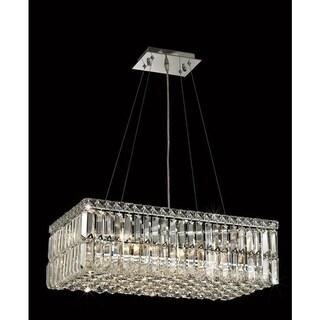 Elegant Lighting Chrome Royal-cut 24-inch Crystal Clear Hanging 6-light Chandelier