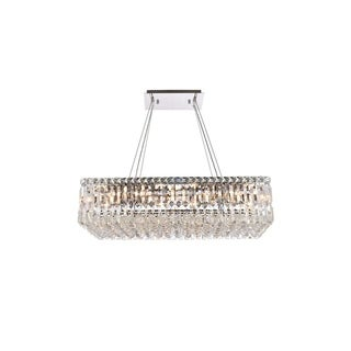 Elegant Lighting Chrome Royal-cut 28-inch Crystal Clear Hanging 16-light Chandelier