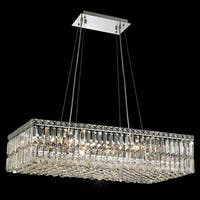 Elegant Lighting Chrome Royal-cut Crystal Clear 32-inch Hanging 16-light Chandelier