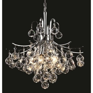 Elegant Lighting Chrome 16-inch Royal-cut Crystal Clear Hanging 6-light Chandelier